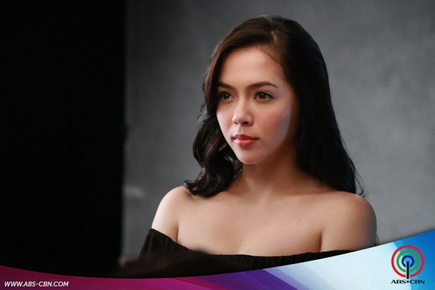 Blooming Julia Montes at the promo shoot for Doble Kara